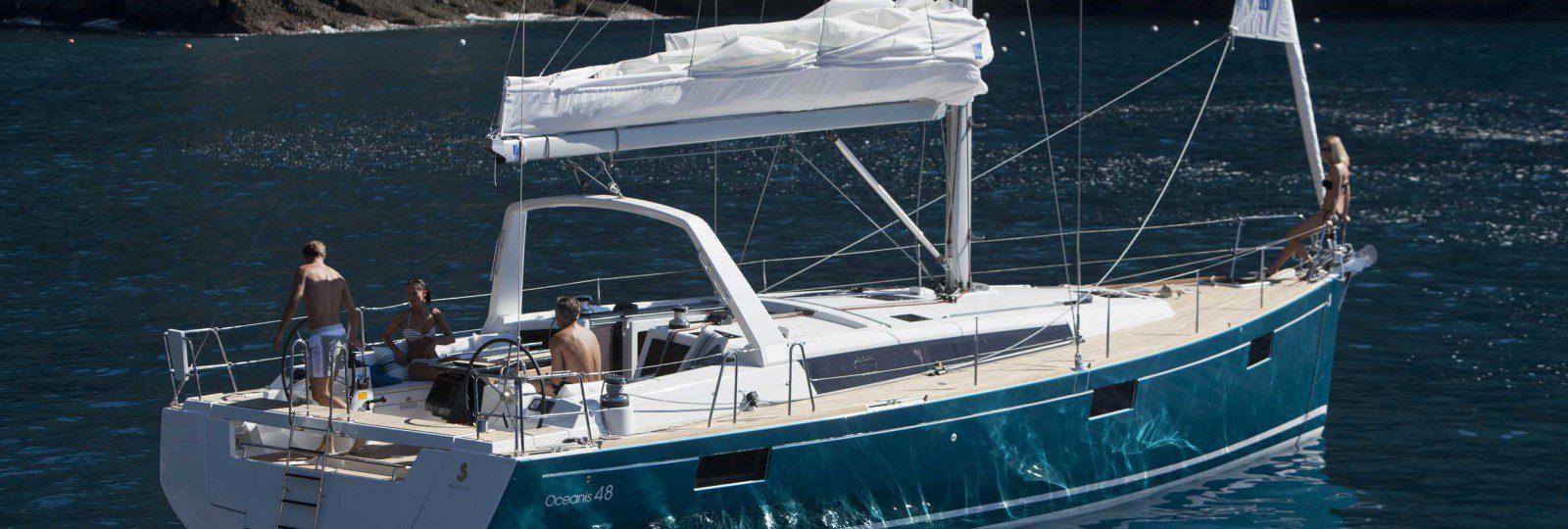 Beneteau Oceanis 48 at anchor