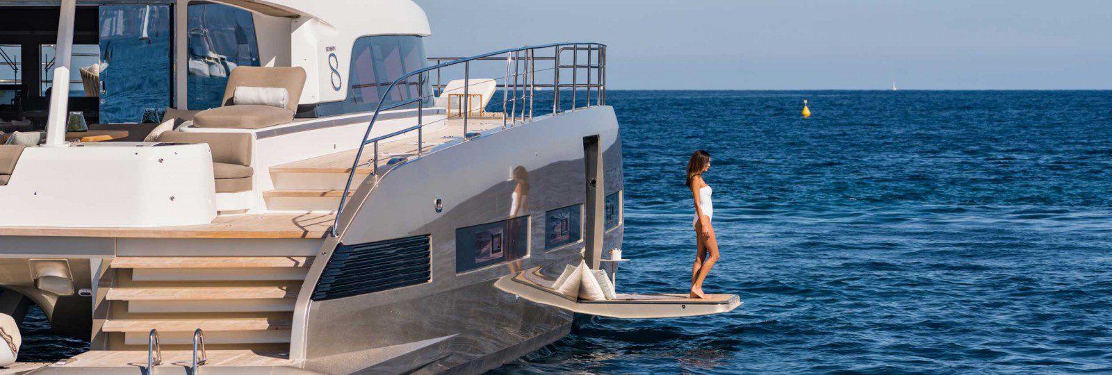 Lagoon Seventy8 master cabin bathing platform