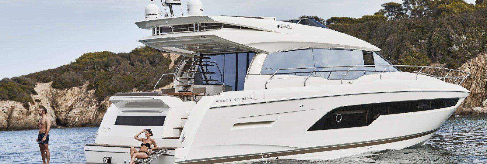 Prestige Yachts 630s at anchor