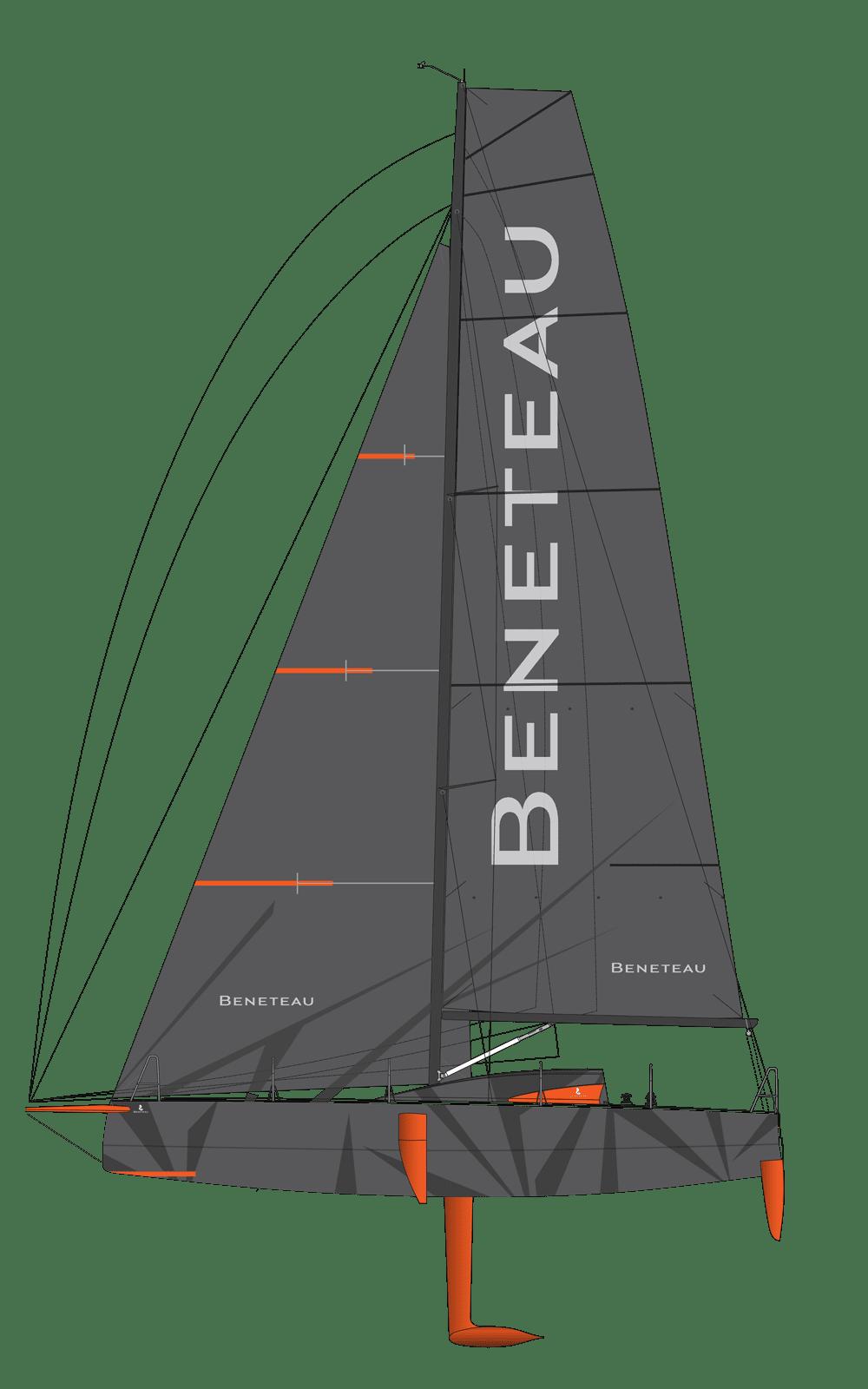 Beneteau Figaro Range Line Drawing