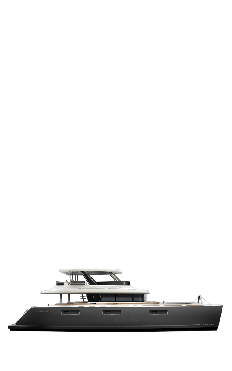 Lagoon Power Catamarans Range Line Drawing