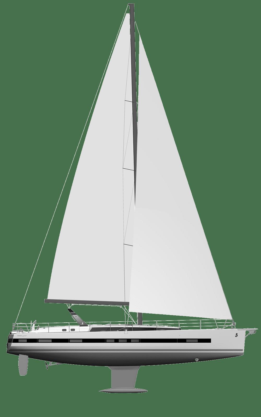 Beneteau Oceanis Range Line Drawing