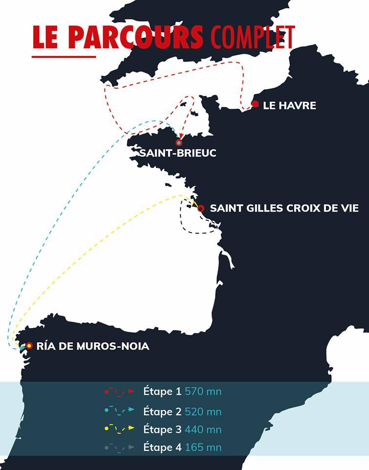 La Solitaire URGO Le Figaro map