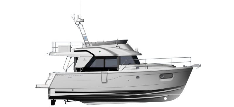 Beneteau Swift Trawler Range Line Drawing